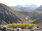 An image of Embalse Yeso valley.